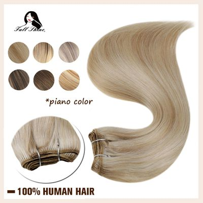 Full Shine Hair Weft Balayage Piano Color Hair Bundle 100g Double Wefted Sew in Hair 100% Machine Made RemyHuman Hair Extensions