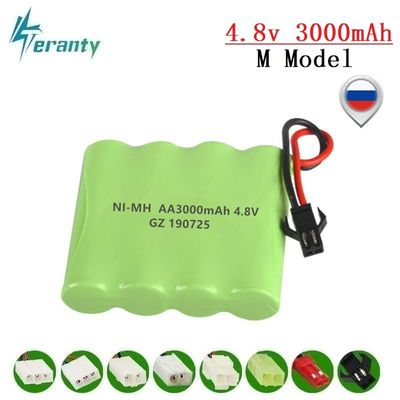3000mah 4.8v Rechargeable Battery For Rc toys Cars Tanks Robots Gun NiMH Battery AA 4.8v 2400mah Batteries Pack For Rc Boat 1PCS