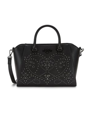 Love Moschino Embellished Faux Leather Crossbody Bag