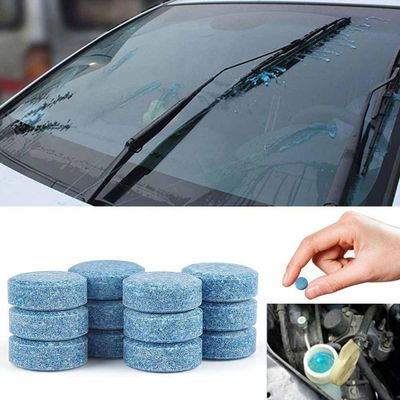 10PCS Car Wiper Detergent Effervescent Tablets Washer Auto Windshield Cleaner Glass Wash Cleaning Compact