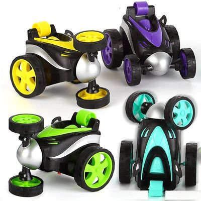 newest 360 degree Rolling Rotating Tumbling Remove Controlled Mini RC Stunt Dancing Car for Kids Radio Control Toys