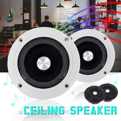5.2inch 60W Round Ceiling In-Wall Home Audio Speakers System Flush Mount Speaker With Amplifier Ceiling Speaker