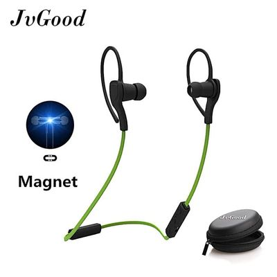 Bluetooth Headphones Wireless Sports Earphones W/ Mic HD Stereo Sweatproof Magnetic Earbuds Gym Running Workout 8 Hour Battery Noise Cancelling Headsets With Earphone Case Box BDZ
