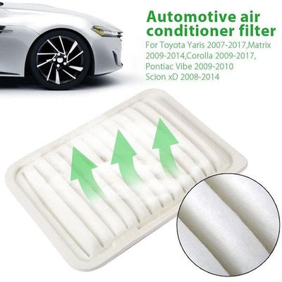 1xEngine Air Filter Replaces For T.oyota For T.oyot-a For C.orolla/Matrix/Yaris/Scion 17801-21050 17801-0D060, 17801-0T030 White