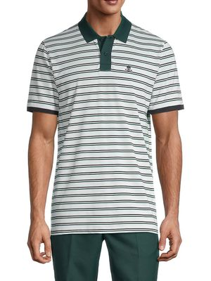 G/Fore Short Sleeve Striped Polo
