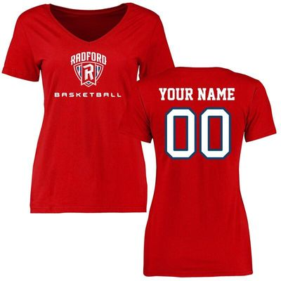 Radford Highlanders Women's Personalized Basketball T-Shirt - Red