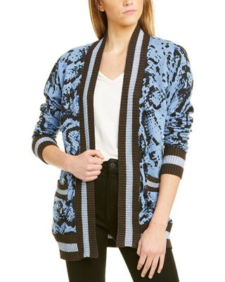 Central Park West Animal Print Cardigan