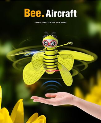 Electric Infrared Sensor Bee Flying Toys Hand-Controlled Helicopter LED Light