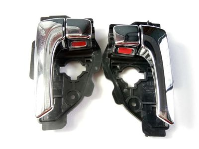 Left/Right electroplate Bright color INTERIOR DOOR HANDLE FOR HYUNDAI IX35 TUCSON 82610-2S010 82620-2S010 Top quality