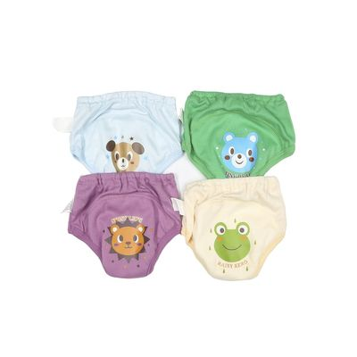 4pcs For Baby Toddler Girls and Boys Cute 4 Layers Waterproof Potty Training Pants reusable
