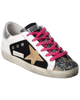 Golden Goose Superstar Leather & Glitter Sneaker