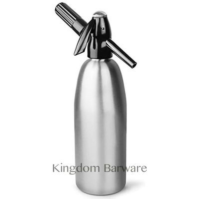 Soda Water Siphon  Ultimate  Aluminum  Soda Maker  1 Liter - Make Soda Infusions  - Uses Standard C