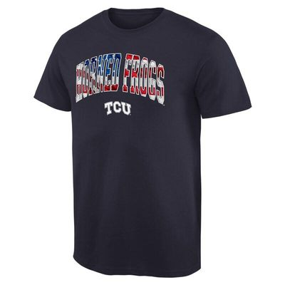 TCU Horned Frogs Banner Arch T-Shirt - Navy