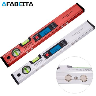 400mm 16in Digital Angle Finder Level 360 Degree Spirit Level Upright Inclinometer With Level bubble Magnets Protractor Ruler