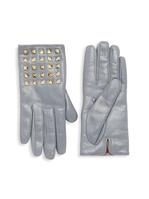 Valentino Smooth Leather Studded Gloves