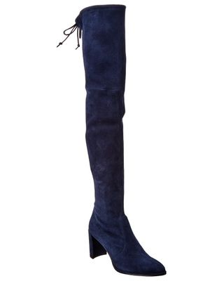 Stuart Weitzman Landmark Suede Over-The-Knee Boot