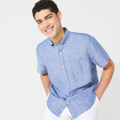 Nautica Linen Short Sleeve Shirt