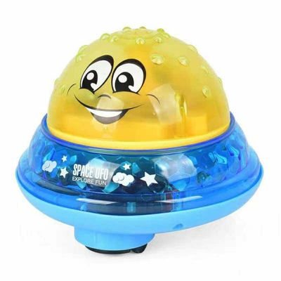 Infant Electric Induction Water Polo Toy Baby Bathroom Play Water Bath Light Toy Automatic Induction Sprinkler For Baby