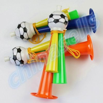 1pcs Colorful Three Tubes cheering High-pitched Voice Horns soccer football horn Party Carnival Sports Games Noice makers