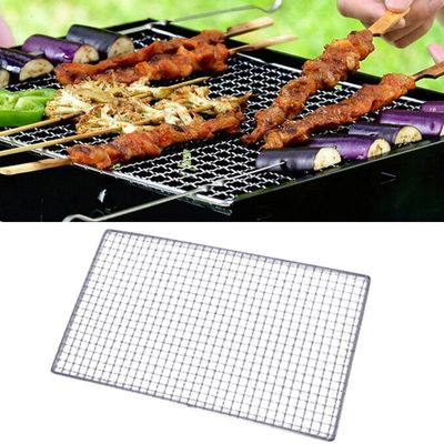 BBQ Barbecue Grill Mat Stainless Steel Replacement Mesh Wire Net Non-stick Teflon Grilling Mesh Mat OutdoorCook BBQ Accessories