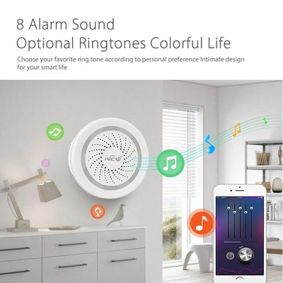2019 New Wireless WiFi Siren Alarm Sensor for Home Smart Device Support Battery-Powered Can Be Charged with USB Cable