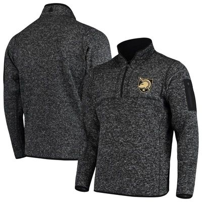 Army Black Knights Antigua Fortune 1/2-Zip Pullover Sweater - Heathered Black