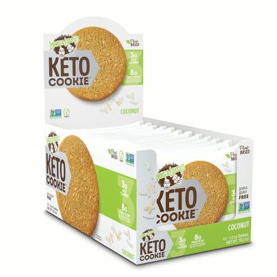 Lenny & Larry's,The Keto Cookie, Coconut, 1.6oz, 12ct, Low Carb, Plant Based Protein Cookies