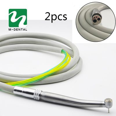 2pcs/pack Dental 4 Holes handpiece Hose Tube with Connector for High Speed handpiece Dentistry Material Free Shipping