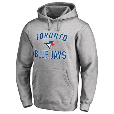 Toronto Blue Jays Victory Arch Pullover Hoodie - Ash
