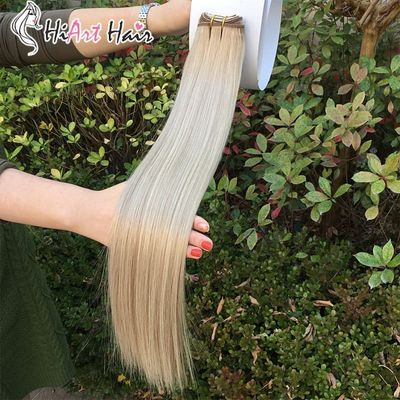 HiArt Hair Weft Extensions 100g Double Drawn Human Remy Hair Salon Machine Made Weft Straight Hair 18