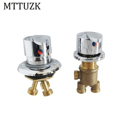 MTTUZK Solid Brass Bathtub Hot and Cold Mixing Faucet Split Jacuzzi Mixer 1 in 2 out Switch Bathtub Tap , Bathroom Shower Faucet
