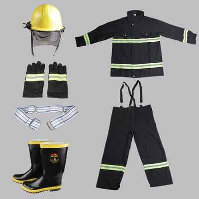 Five-piece Fire equipment Combat Suits Flame Retardant High Temperature Fire Protective Clothing Protective Gloves Shoes Helmet