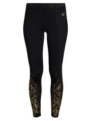 Roberto Cavalli Liquid Splatter Leggings