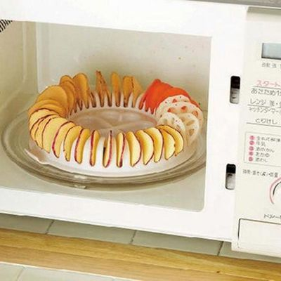 Microwave Oven Fat Potato Chips Maker DIY Low Calories Oven Fat Free Apple chips Maker Bakeware Tools Baking Pans Chips Rack