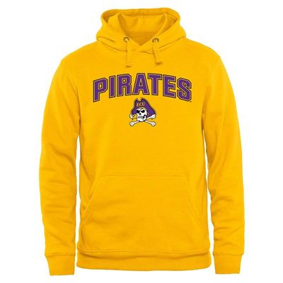 East Carolina Pirates Proud Mascot Pullover Hoodie - Yellow
