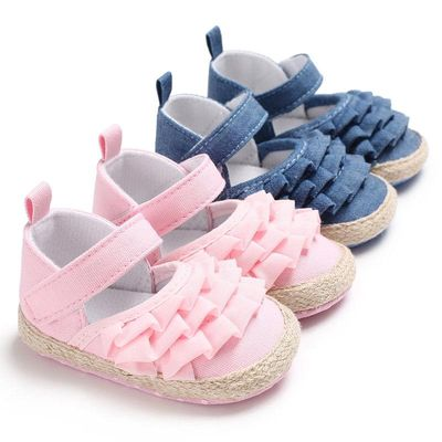 0-18 Months Newborn Infant Toddler Baby Girl Soft Sole Crib Shoes First Walkers Ruffles Princess Girls Baby Shoes