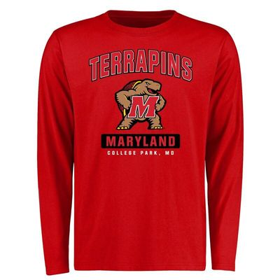 Maryland Terrapins Campus Icon Long Sleeve T-Shirt - Red