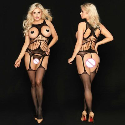 JSY Sexy Lingerie Women Fetish Open Crotch Body Stocking Bodysuits Sex Clothes Underwear For Adult Woman