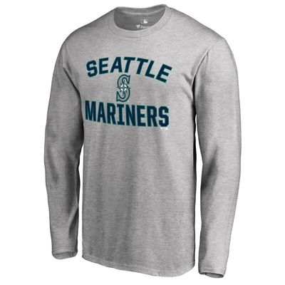 Seattle Mariners Victory Arch Long Sleeve T-Shirt - Ash