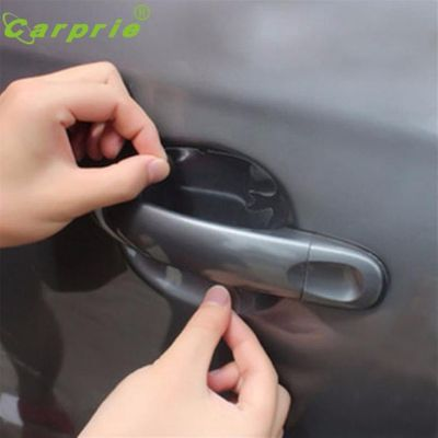 Car-styling Carprie 4pcs Car Universal Clear Side Door Handles Paint Scratches Protective sticker hood car protective film W920