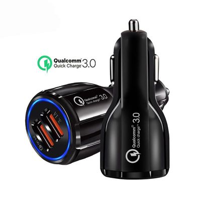 Quick Charge 3.0 Car Charger For Mobile Phone Dual Usb Car Charger Qualcomm Qc 3.0 Fast Charging Adapter Mini Usb Cable Charger