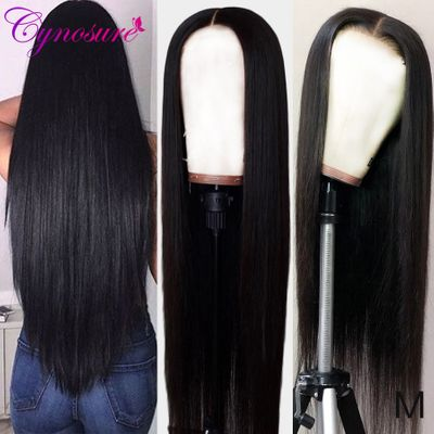 Cynosure 4x4 Lace Closure Human Hair Wig for Women Brazilian Straight 13x4 Lace Front Human Hair Wigs 150% Density Remy Hair