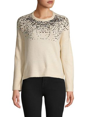 Lea & Viola Sequin Embellished Sweater