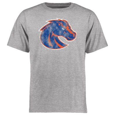 Boise State Broncos Big & Tall Classic Primary T-Shirt - Ash
