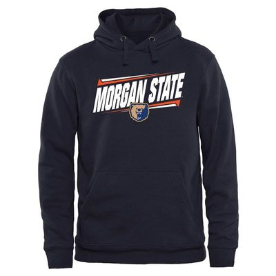 Morgan State Bears Double Bar Pullover Hoodie - Navy