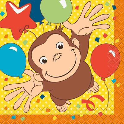 Curious George Beverage Napkins (16 Count)