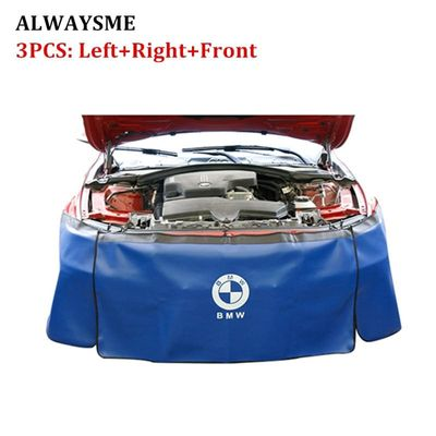 ALWAYSME 3PCS Set Car Auto Motor Magnetic Fender Cover Mat Pad Protector Gripper Automotive Mechanic Work Mat With Heavy Duty