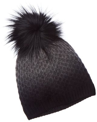 Amicale Cashmere Textured Stitch Dip-Dye Cashmere Hat