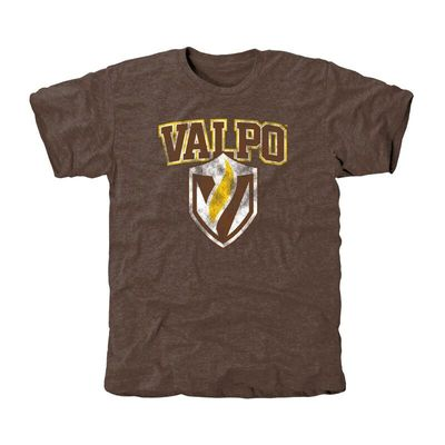 Valparaiso Crusaders Classic Primary Tri-Blend T-Shirt - Brown