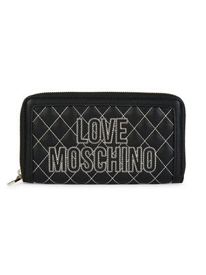 Love Moschino Box-Quilted Faux Leather Continental Wallet